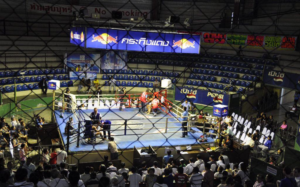 Watching Muay Thai in Bangkok