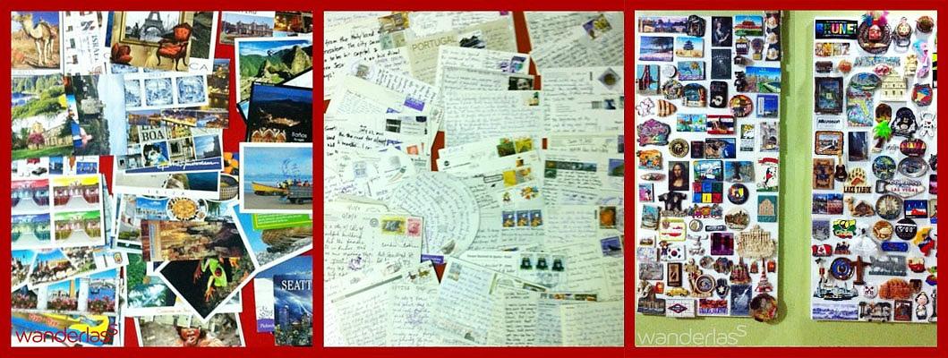 travel souvenirs magnet postcards