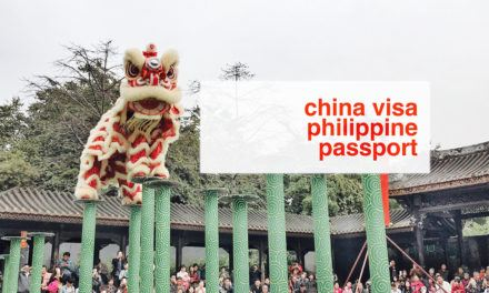Chinese Visa for Philippine Passport Holders (UPDATE 2016)