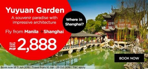 AirAsia Direct Flights Manila to Shanghai